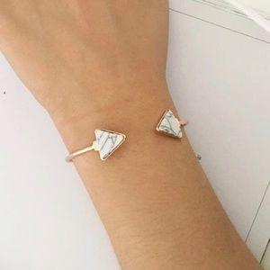 ❗️BOGO FREE Triangle Marble Stone Cuff Bracelet
